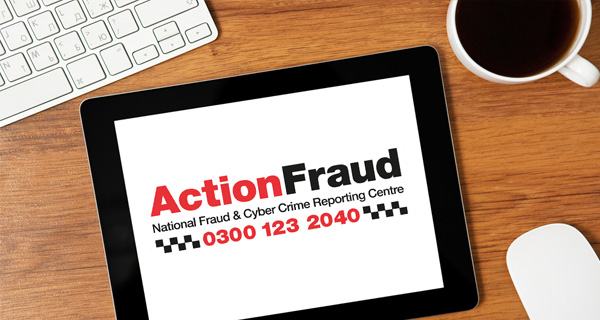 Action Fraud tablet